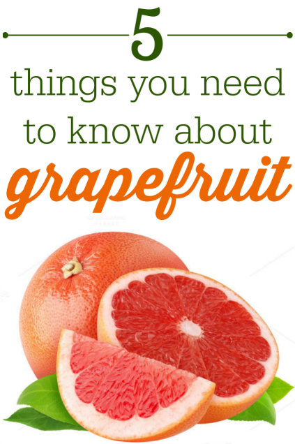 5 things you need to know about grapefruit // LivingMiVidaLoca.com