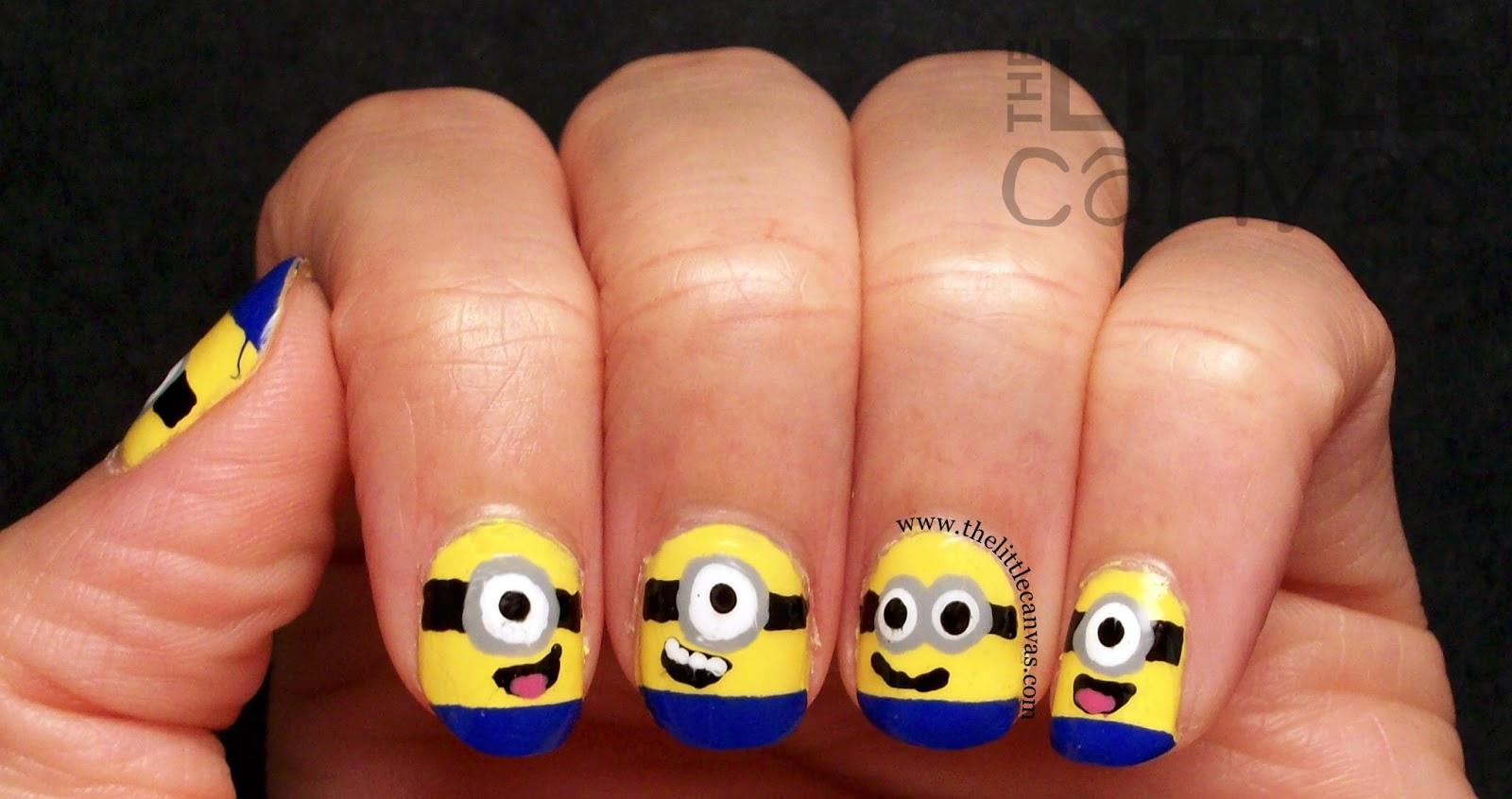 Despicable me minion nails tutorial the little canvas despicable me minion nails tutorial prinsesfo Images