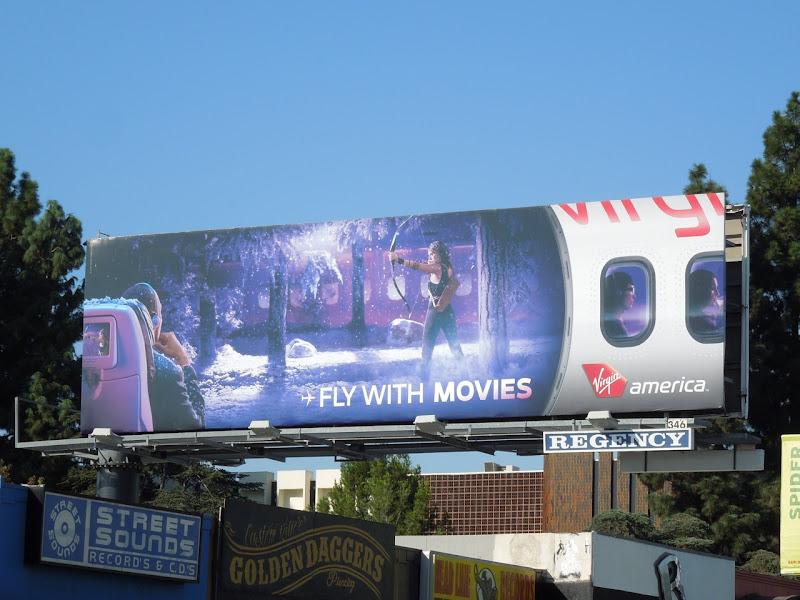 movies Virgin America billboard