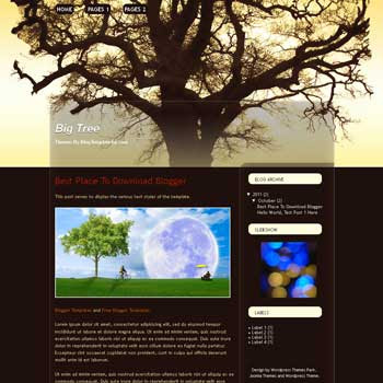 Big Tree Blogger Template