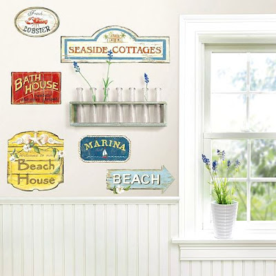 Beach Sign Wall Decals