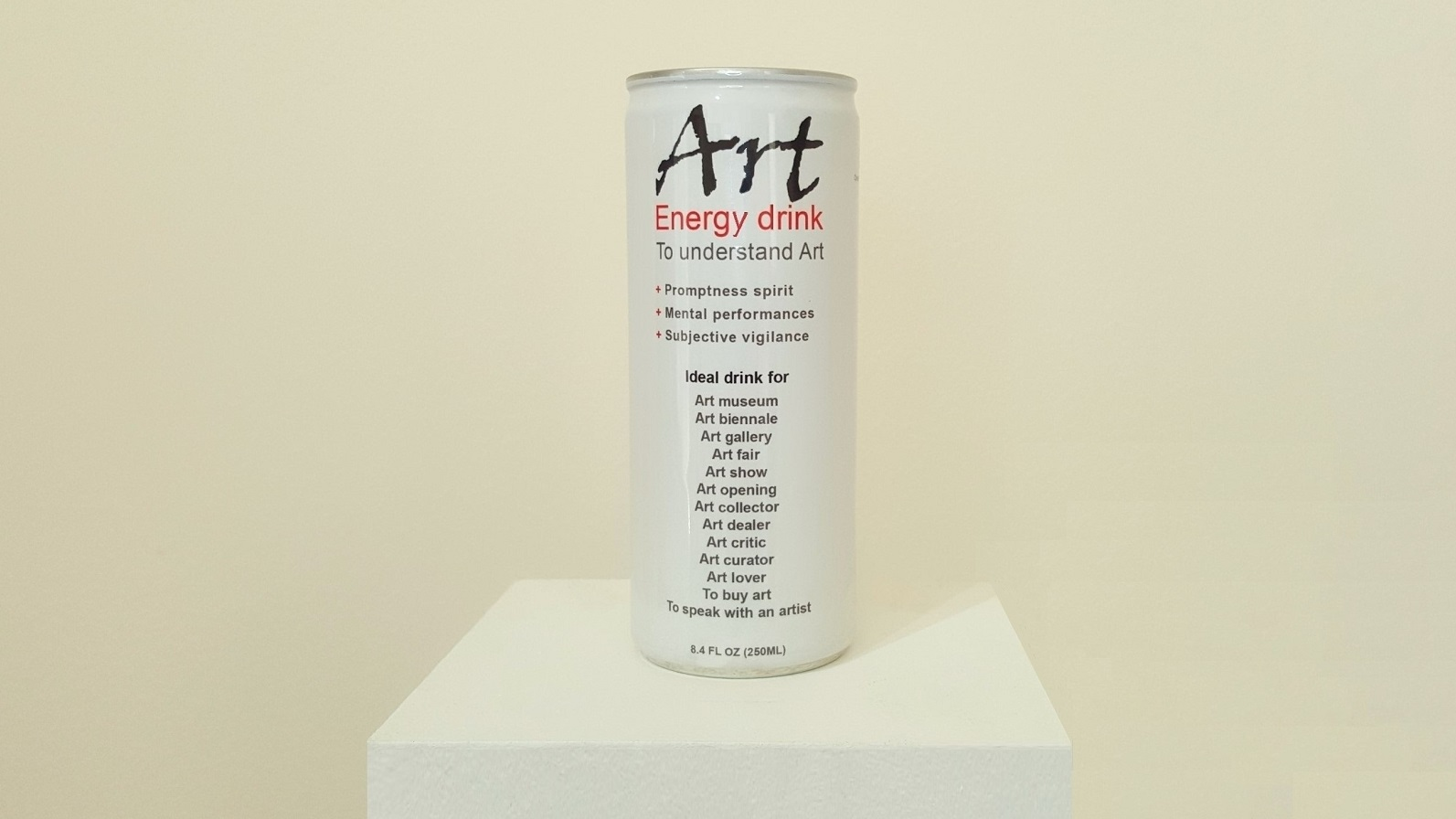 "Klaus Guingand artwork ""Art""energy drink"