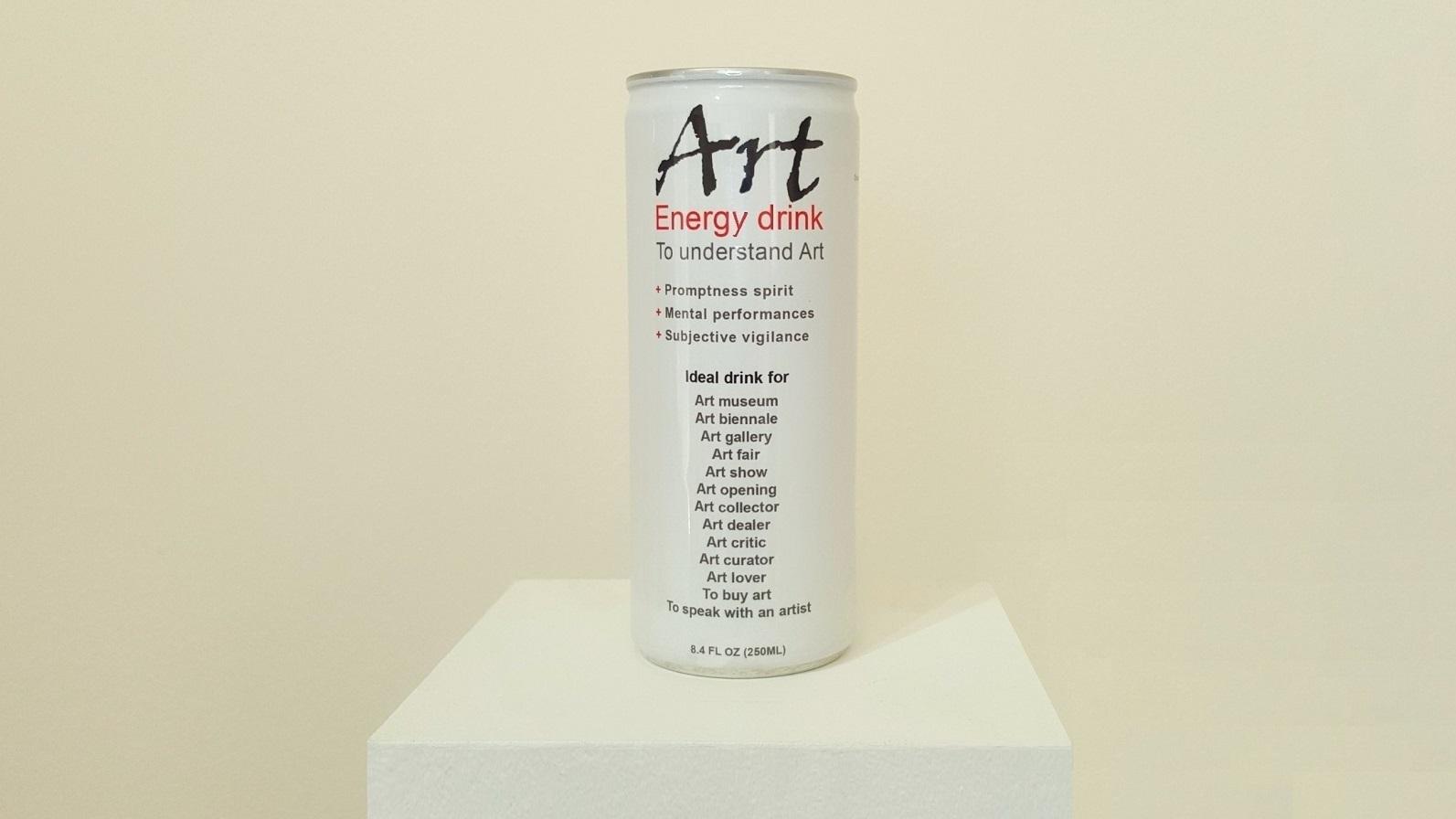 "Klaus Guingand artwork ""Art""energy drink"