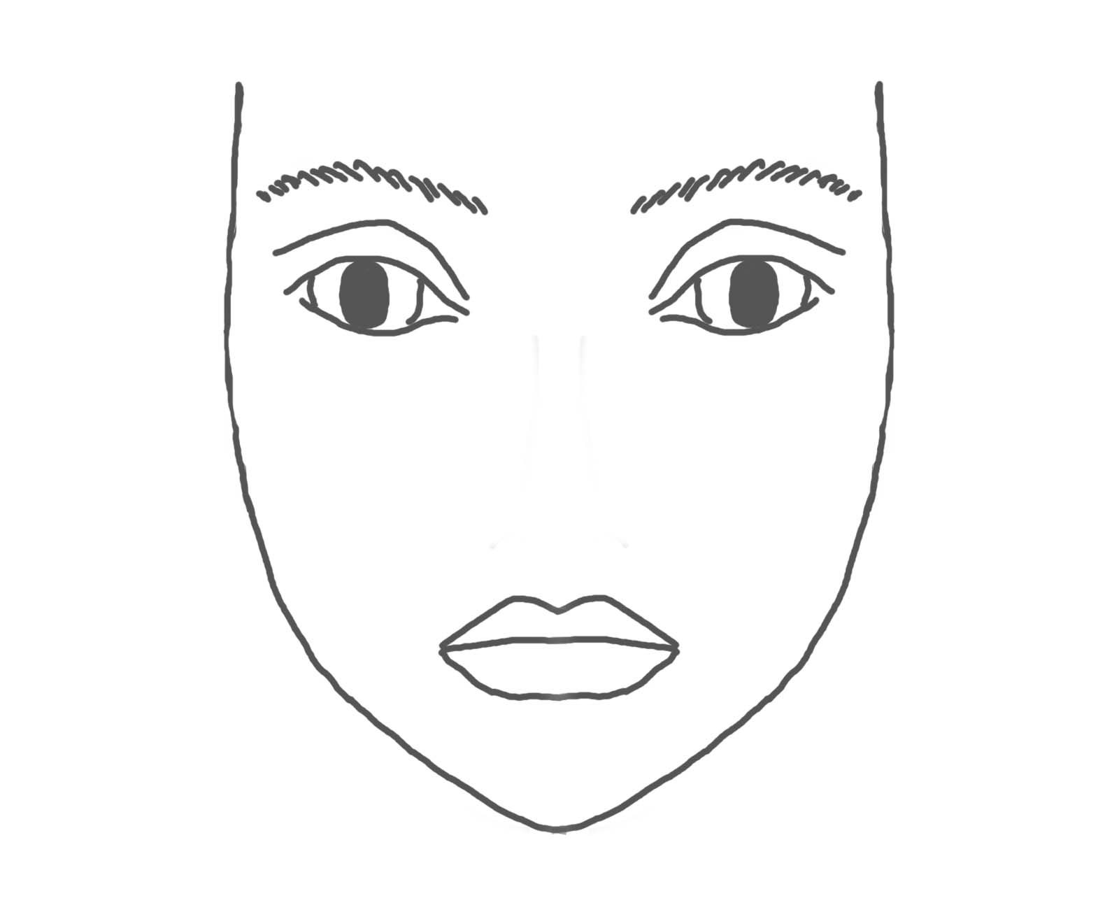 hair and makeup coloring pages - photo#33
