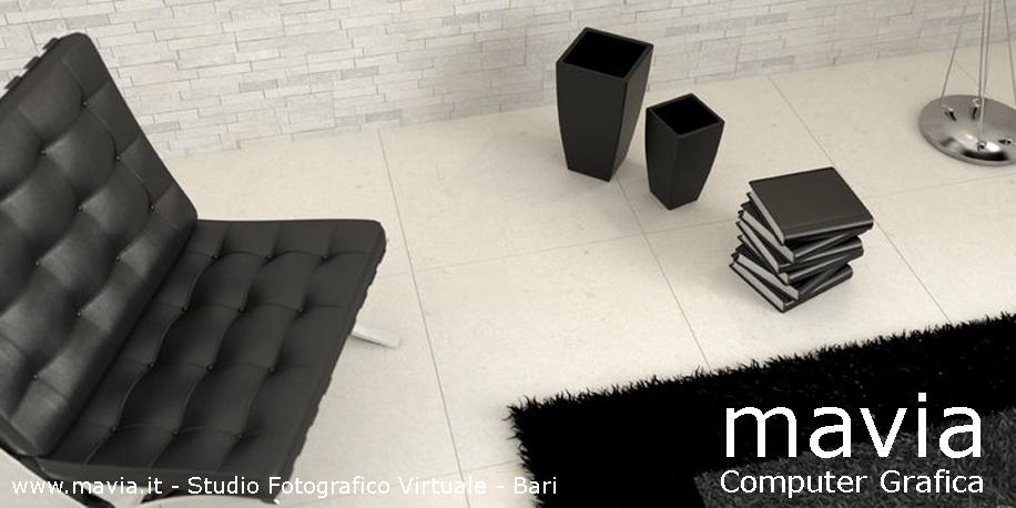... per interni in mattonelle di marmo color grigio chiaro per soggiorno