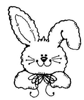 conejos imprimir, colorear, pintar.