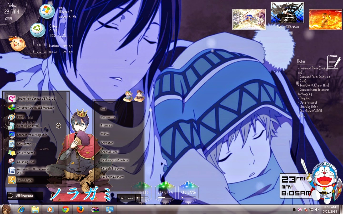 Theme Win 7 Noragami