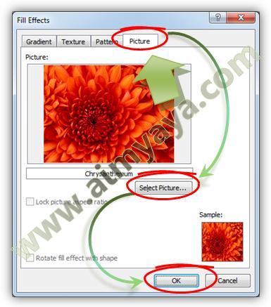 Gambar: Membuat gambar menjadi latar belakang halaman dokumen Microsoft Word 2010