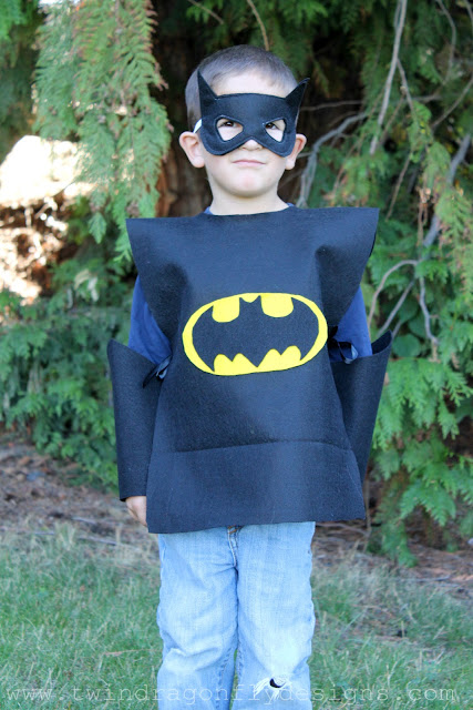 No sew batman costume