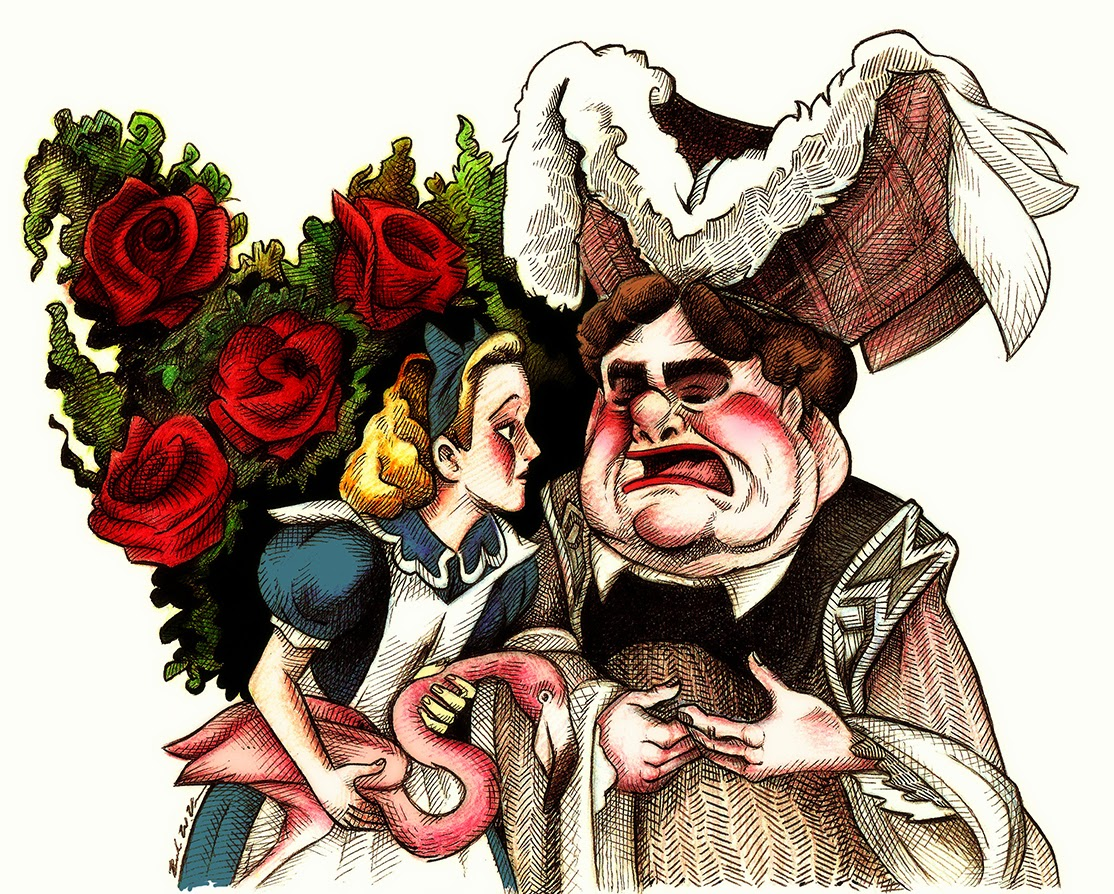 """alice and the duchess essay Where am i home- the evolution of alice criticism - psychoanalytic criticism the psychoanalytic approach to make the dream-story from which wonderland was elaborated seem freudian one only has to tell it""""."""
