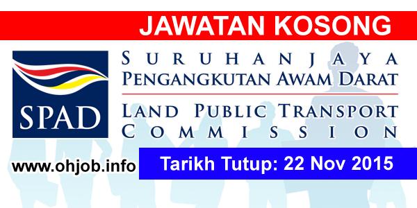 Jawatan Kerja Kosong Suruhanjaya Pengangkutan Awam Darat (SPAD) logo www.ohjob.info november 2015