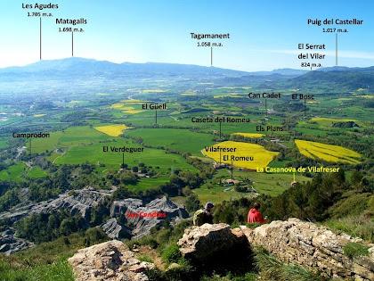 Panoràmica des de les restes del Castell de Gurb