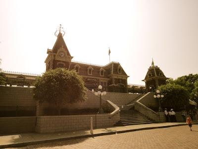 Disney Train Station at Hong Kong