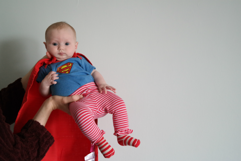 Matilda Rooftops: Style Icon (3-6 month edition) - Superman Outfit
