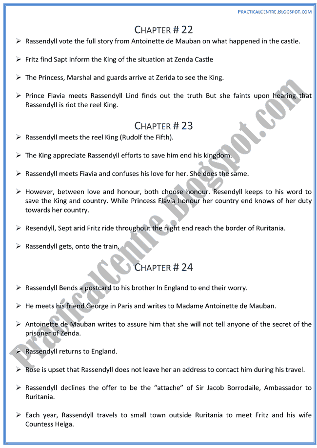 The-Prisoner-Of-Zenda-Drama-Chapters-Summary-English-XII