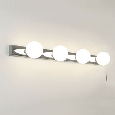 The Astro Cabaret Bathroom Wall Light, switched 4 globe light bar