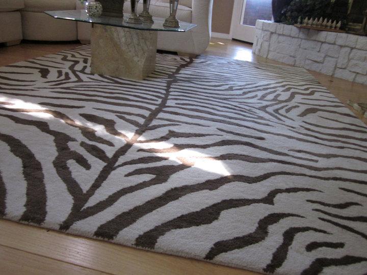 Re Listed Zebra Rug 8 X 10
