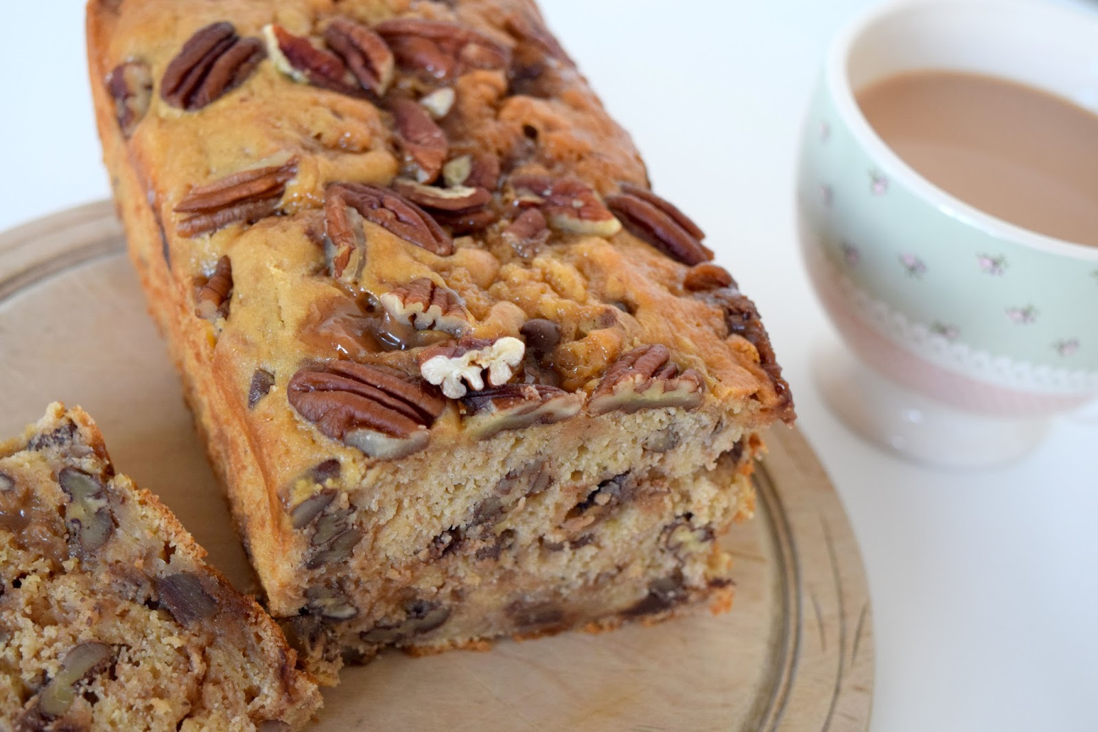 Banana and Pecan Fudge Loaf