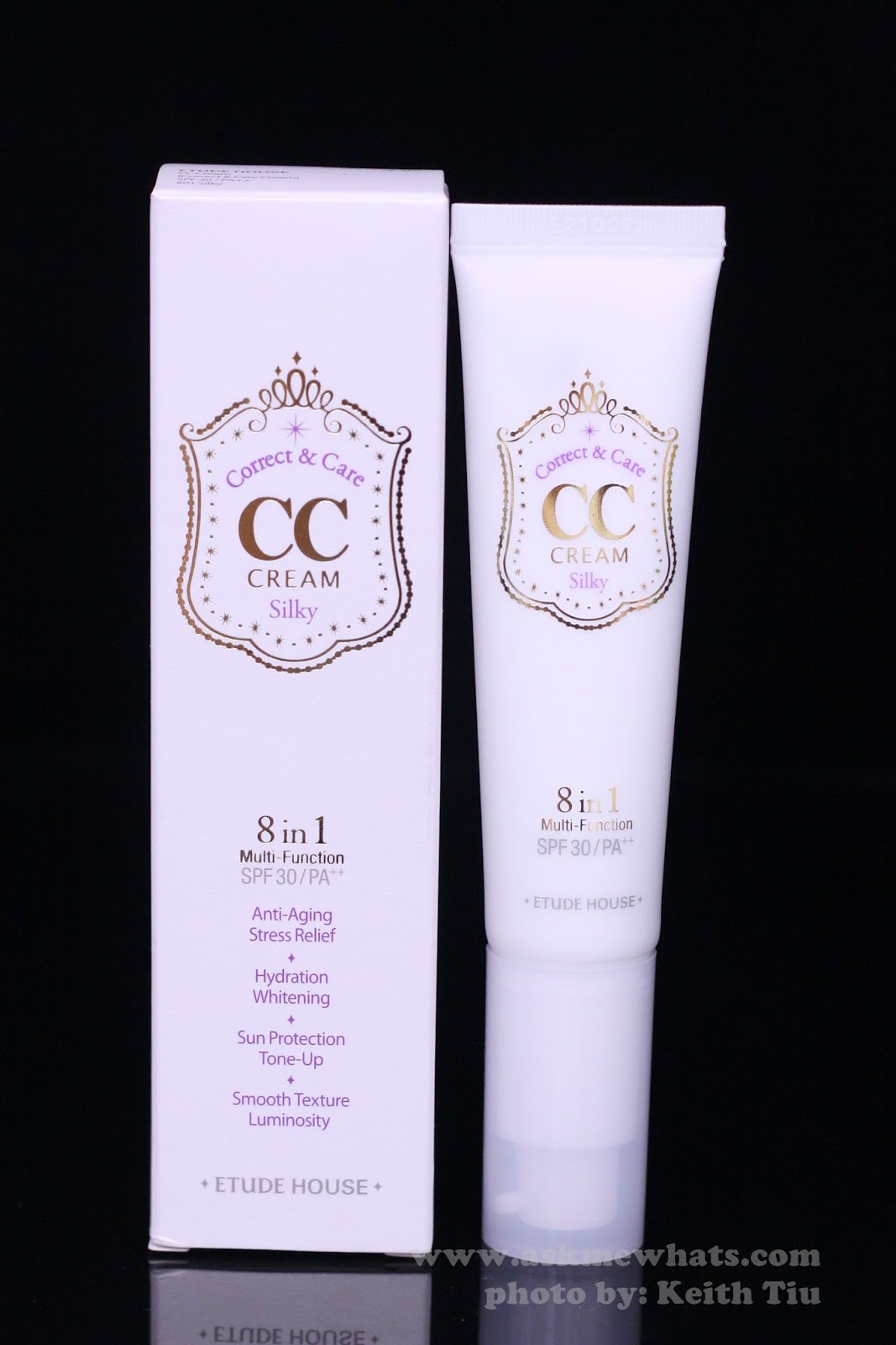 Etude house correct & care cc cream silky