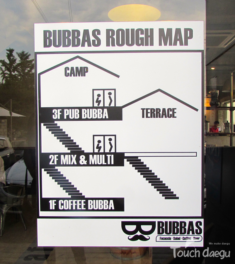 Bubbas rough map, Bubbas Pizza cafe