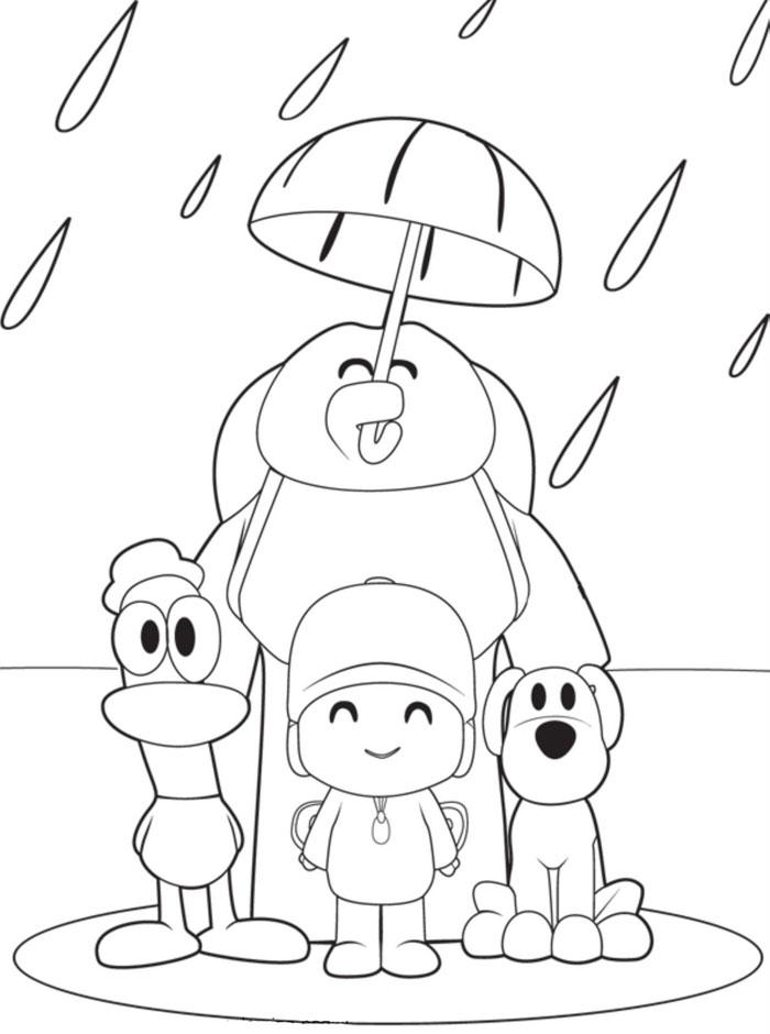 Magnífico Amigos Para Colorear Páginas Para Preescolares Colección ...