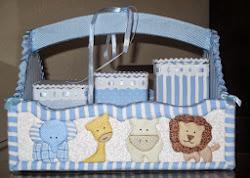 Kit higiene menino - Arca de Noé azul