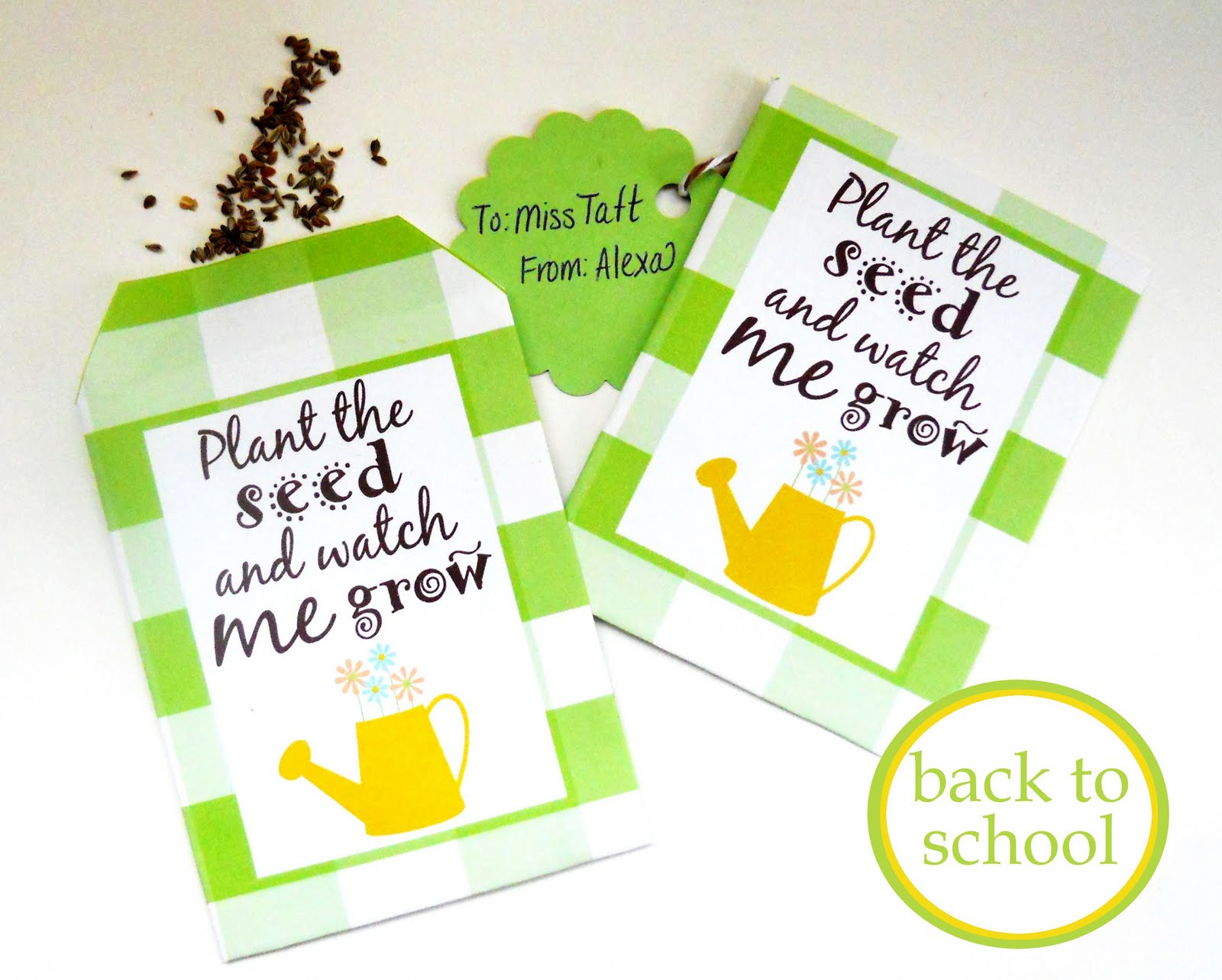 It is an image of Nifty Printable Seed Packets