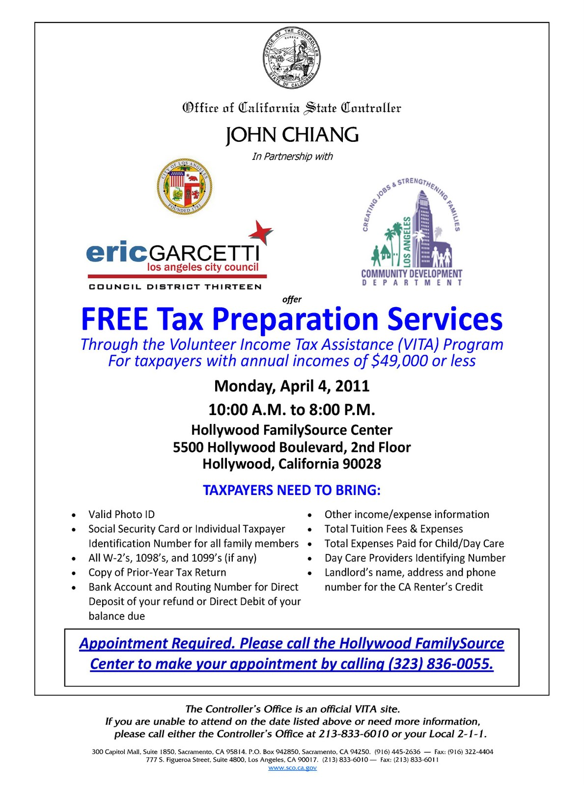 Lacityorgcd13 Free Tax Preparation Assistance Available