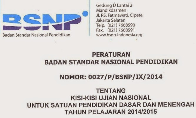 Download Kisi UN IPA SMP 2014/2015 - blog BELAJAR IPA