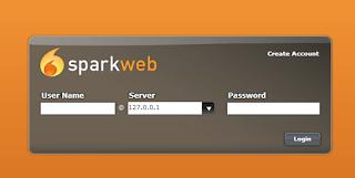 SparkWeb login screen