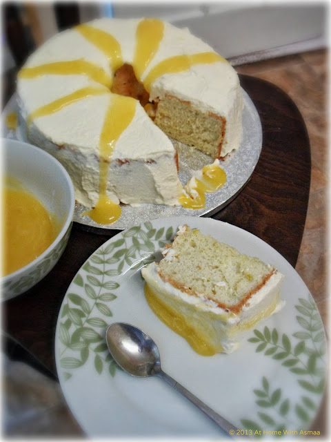 angel food cake with lemon curd great british bake off recipe | Halal Home Cooking