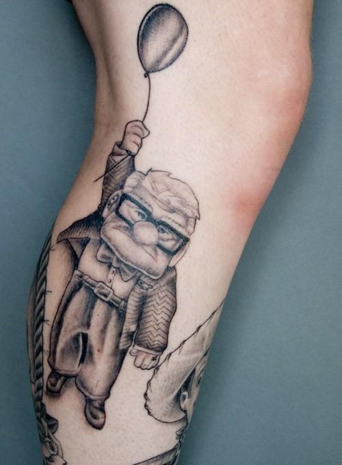 filmes, tatuagens, imagens, cinema, up altas aventuras, 25 tatuagens baseadas em filmes, arte corporal cinematográfica, eu adoro morar na internet