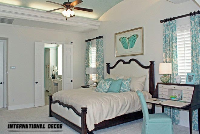 turquoise bedroom interior design