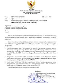 Pengumuman Kelulusan CPNS Kemenkumham 2013