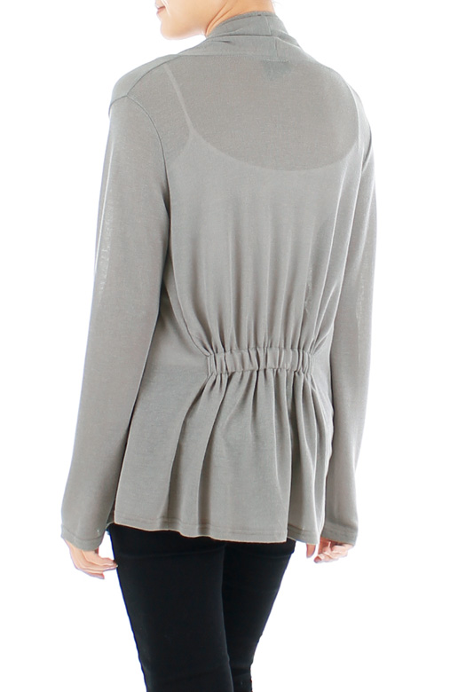 Slouchy Fine Knit Cardi – Isabelline Grey