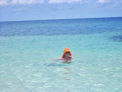 Mom swimming in the beautiful waters