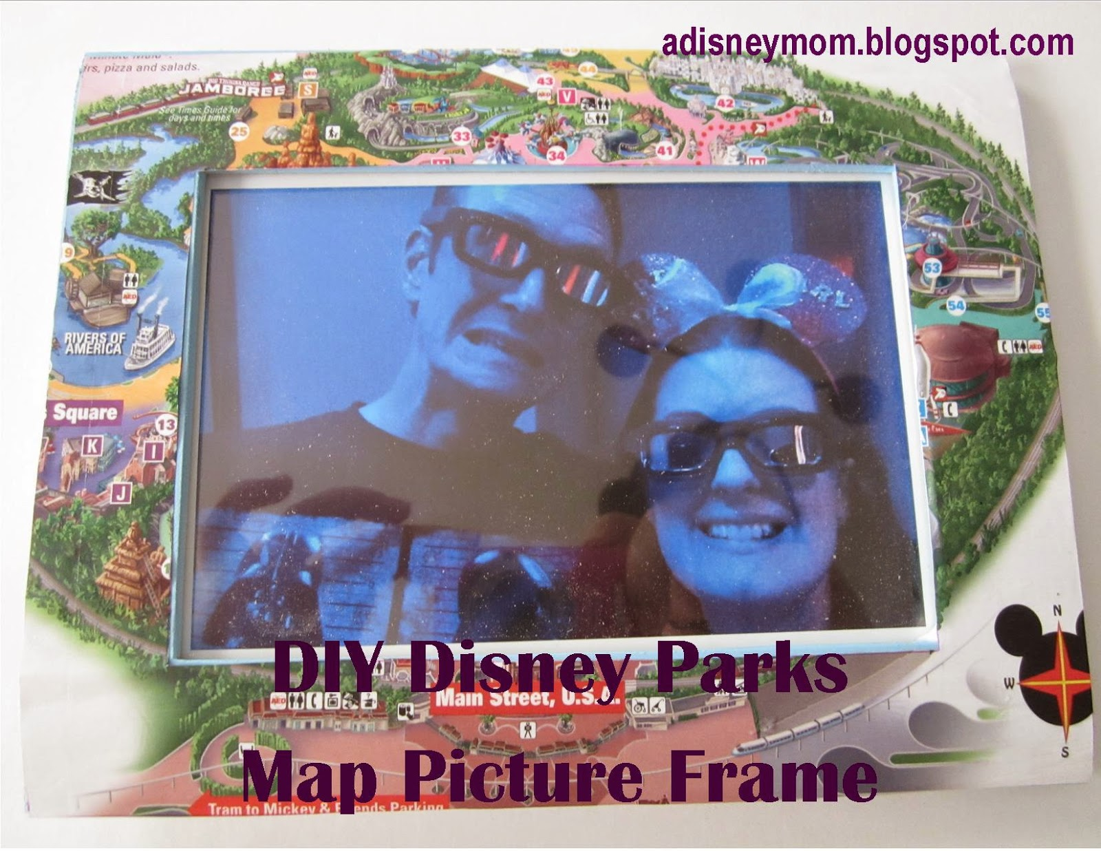 DIY: Disney Parks Map Picture Frame - Falon Loves Life