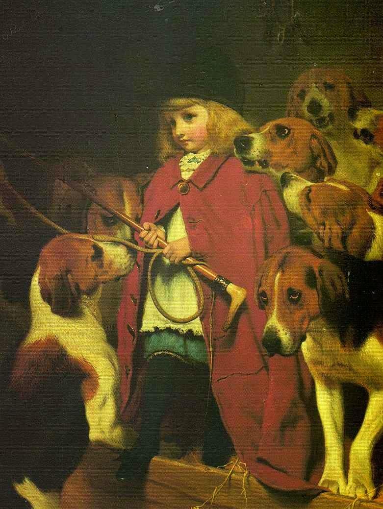 pintura de criança e cachorro