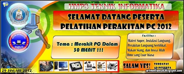 Art Media Nozh Contoh Banner Pelatihan Perakitan