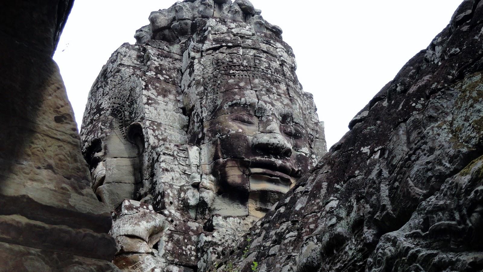 stone face falling apart