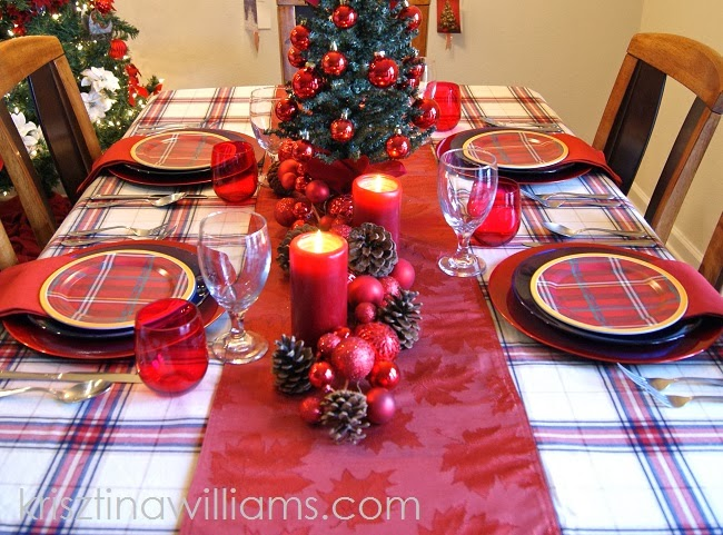 An Elegant Tartan Christmas Table Setting