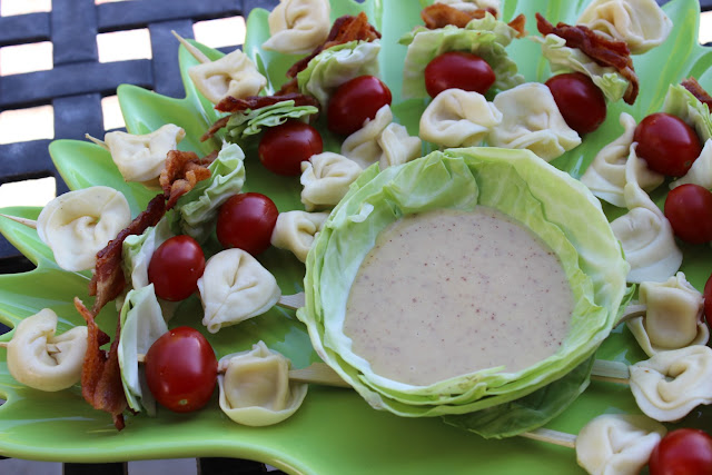 BLT Skewers with Ranch Dipping Sauce Recipe