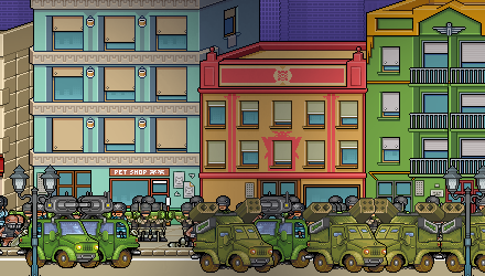 A shot of the rambling army that will eventually grow in Save the Earth - The Incremental.