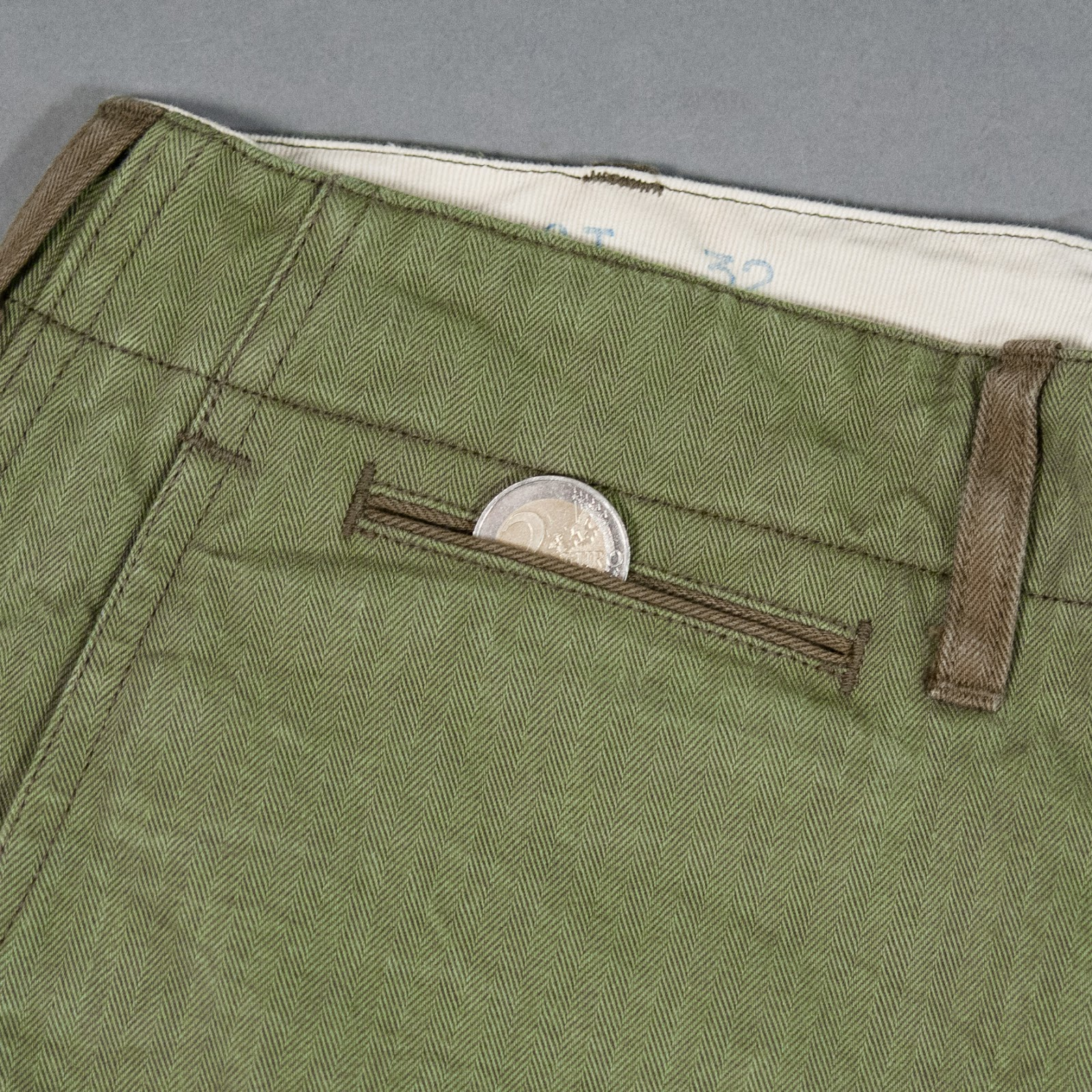 Buzz Rickson's HBT 1942 Trousers - coin pocket