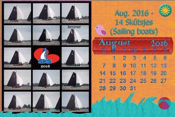 Aug. 2016 - 14 Skûtsjes (Sailing boats) desktop