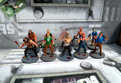 Zombicide, All, Survivors, painted, group shot, Zombivores, Season One