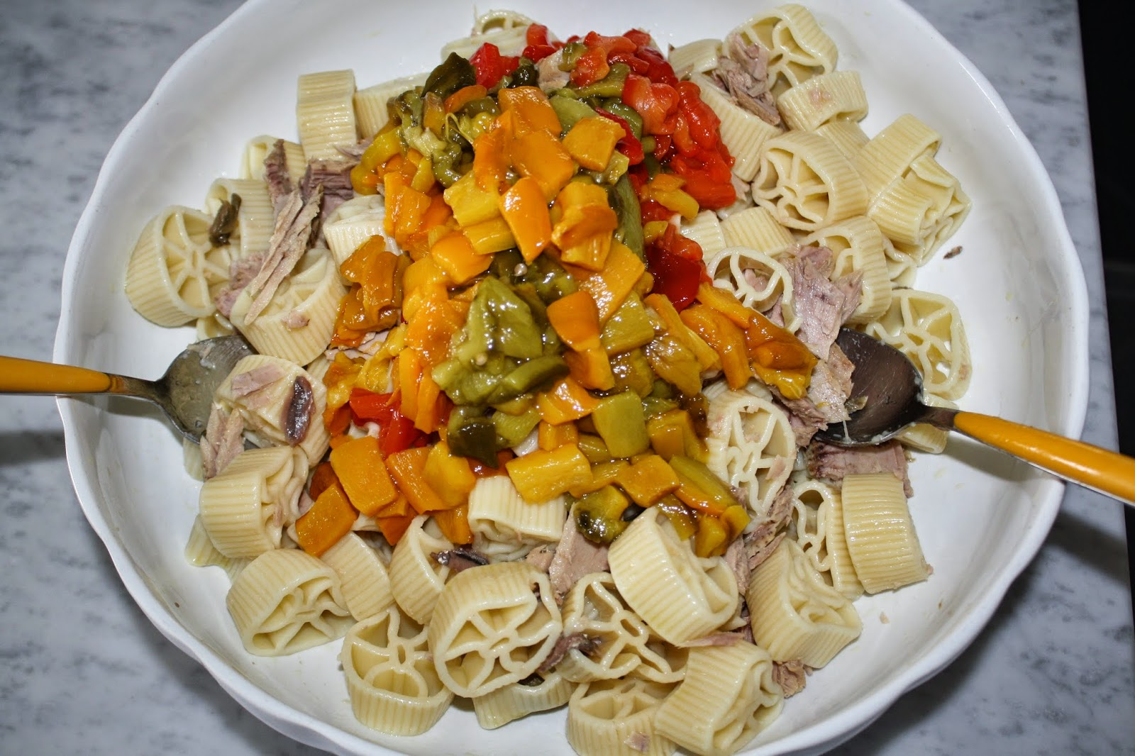 insalata pasta tonno