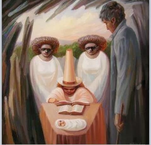 لقوي الملاحظة كم وجه فى اللوحة الفنية