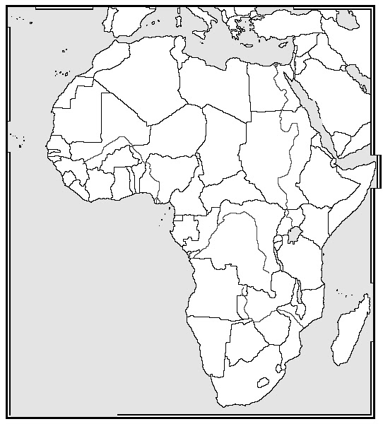 Adorable image with blank map of africa printable
