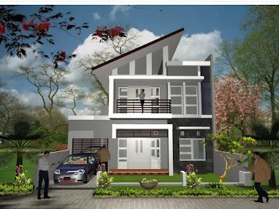 contoh rumah minimalis 2 lantai type 45